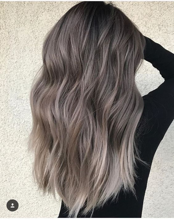 75 Ombre Hair Color For Grey Silver | hairs | Frisuren, aschbraunes