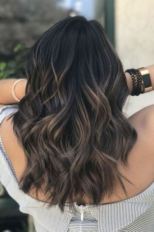 Image result for balayage on black hair | Hair and Makeup | Haar