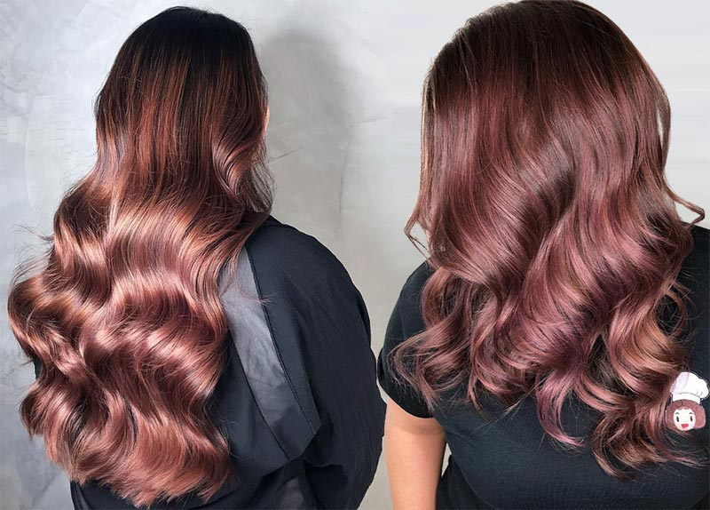 Rose Brown Hair Trend: 23 Magische Rose Brown Haarfarben zu