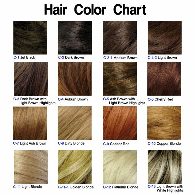 light ash brown, dirty blonde, auburn brown, and copper blonde