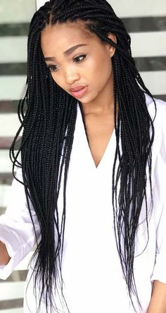 9 Best Small box braids hairstyles images   Braid styles, Braided
