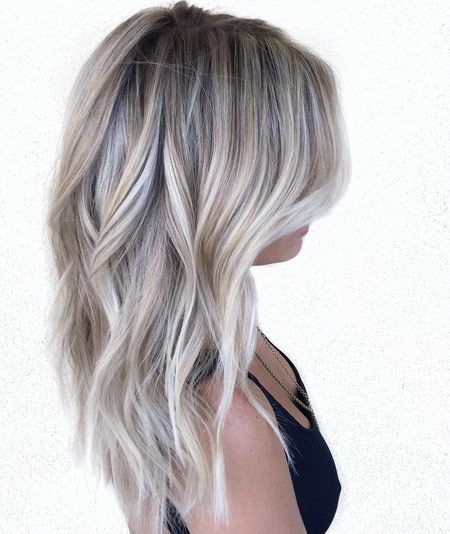 Silvery Ash Blonde and Brown Balayage | Paige!(: | Haar ideen