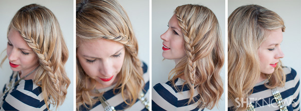 How-to: Lace braid hairstyle tutorial u2013 SheKnows