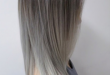 Silver and grey ombre balayage hair | Beauty | Pinterest | Haarfarbe
