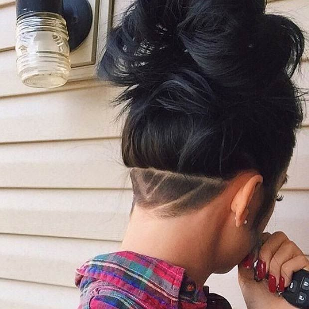 23 Most Badass Shaved Hairstyles for Women | Shaved hair | Pinterest