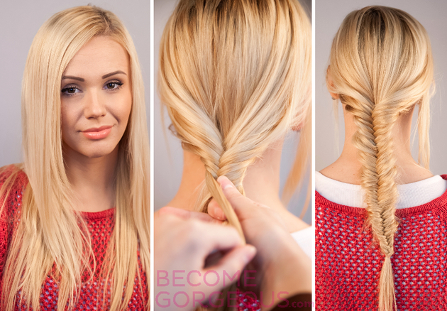 Fishtail Braid Tutorial Step by Step with Video.