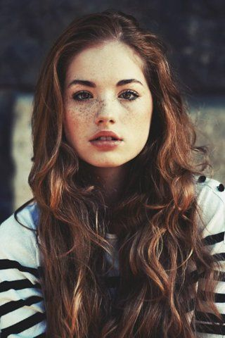 Character inspiration: girl, brown curly hair, brown eyes, freckles