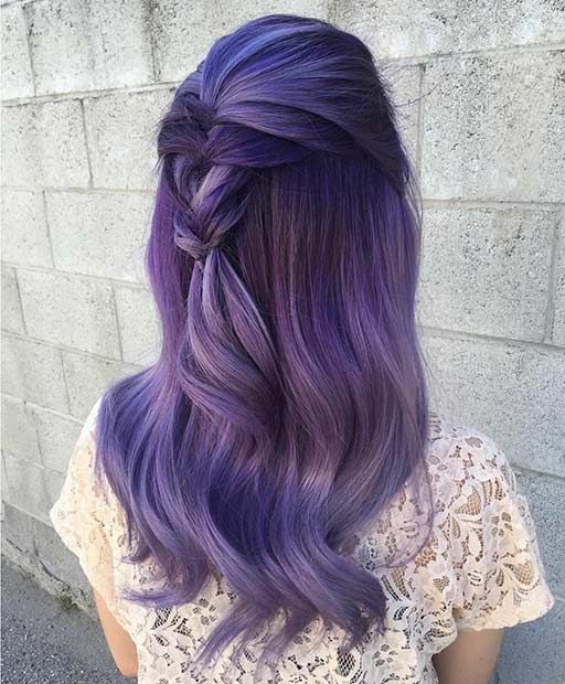 Purple and Smoked Lavender Hair | Awesome Hair | Cabello teñido