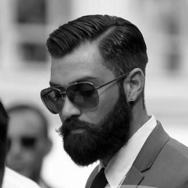 40 Hard Part Haircuts For Men - Sharp Straight Line Style