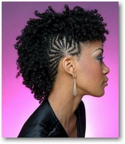 Mohawk Braided Hairstyle - wow! I can see this used in futuristic