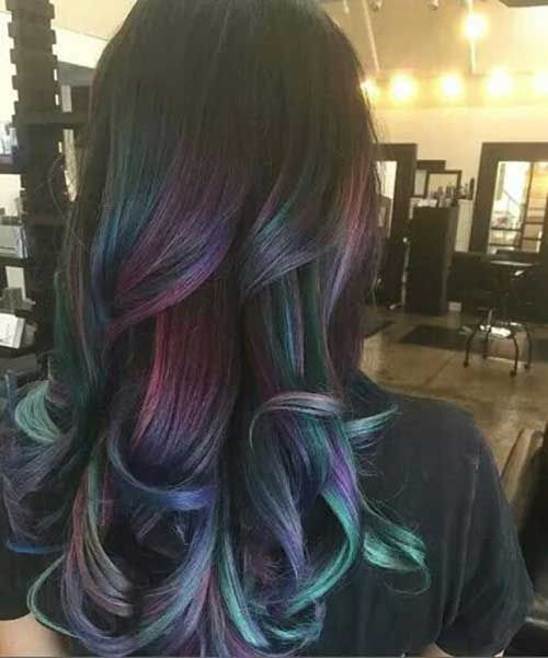 20 Wavy Hairstyles for Long Hair   Outer Beauty   Hair, Oil slick