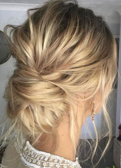 Messy updo wedding hair inspiration | Frisuren | Prom hair, Hair
