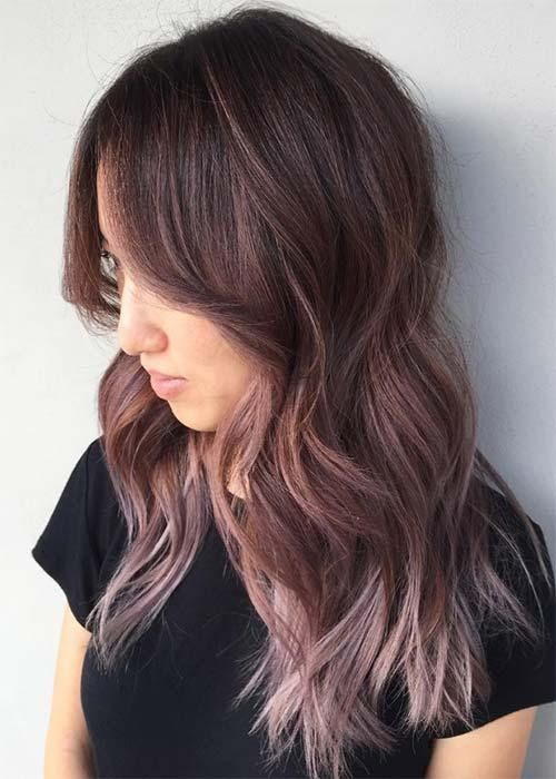 21 Chocolate Brown and Lilac Hair Looks | My Style | Pinterest