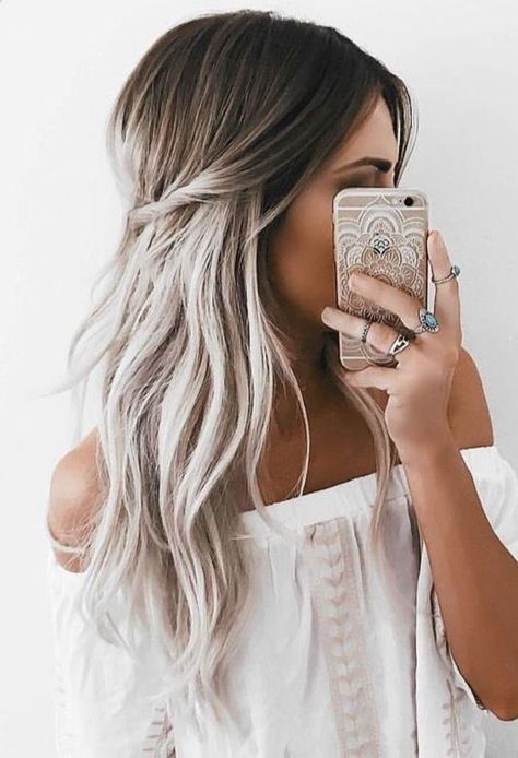 Image result for ombre hair silver | Hair in 2019 | Hair, Grey ombre