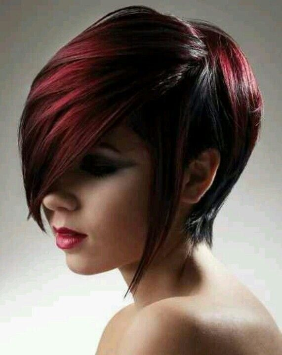short dark red hair - I WANT THIS!!!..I think I'm gonna get this