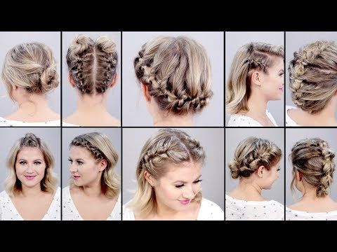 2) 10 SUPER EASY FAUX BRAIDED SHORT HAIRSTYLES: Topsy Tail Edition