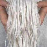 100% Human Hair HALO LightSilver White Silver Gray Icy Blonde Flip-in(Halo style...