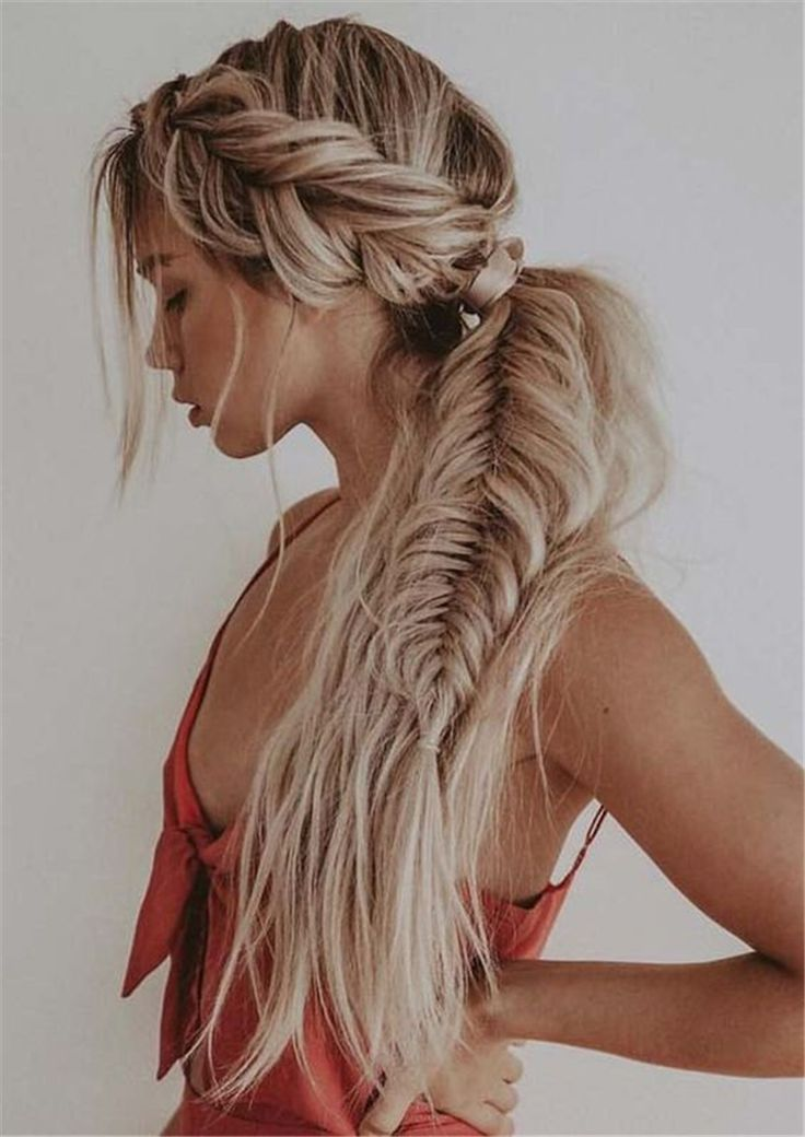 45 Spring Cute Braids Ponytail Hairstyles To Change Your Look Latest Fashion Trends for Women sumcoco.com
