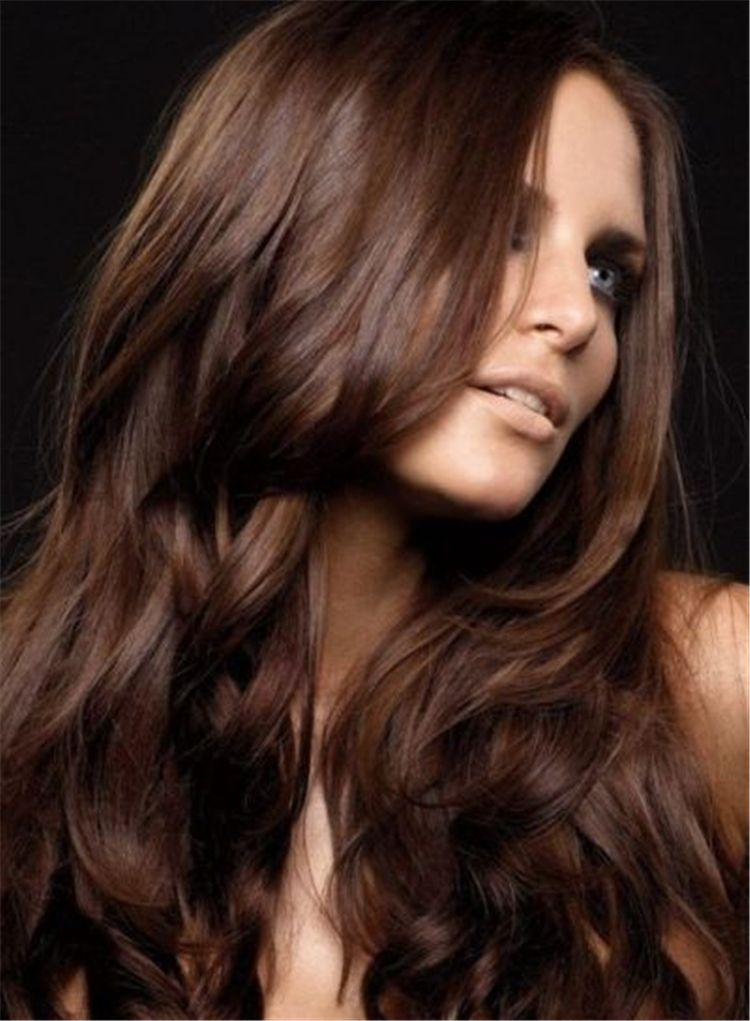 25 Chestnut Brown Hair Colors Ideas -2019 Spring Hair Colors Latest Fashion Trends for Women sumcoco.com