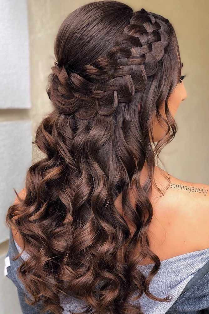 18 Nice Holiday Half Up Hairstyles for Long Hair | LoveHairStyles.com