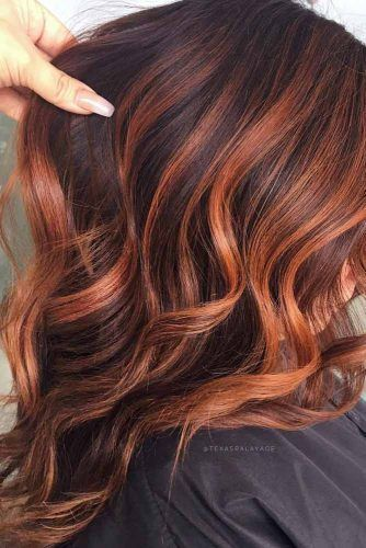 49 Charming And Chic Options For Brown Hair With Highlights #Brown #And #Red