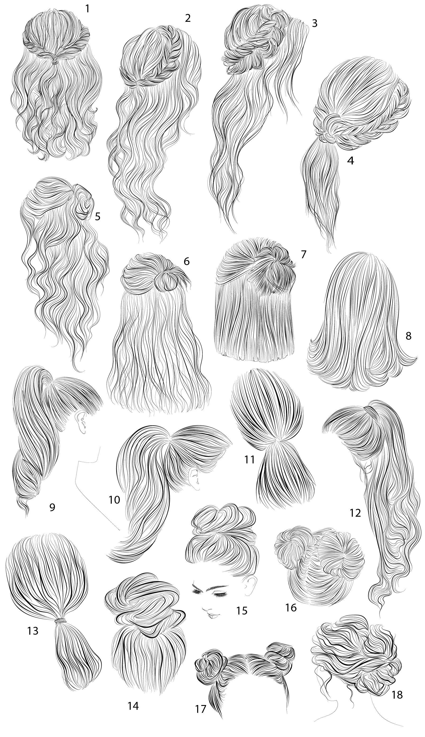 18 vector female hairstyles by colorshop on Creative Market – #colorshop #creati…