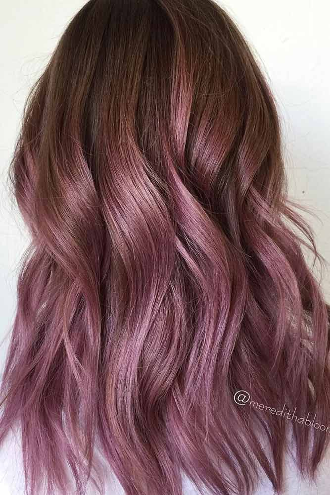 35 Trendy Lilac Hair Shades #hairideas Chocolate lilac hair has become trendy th…