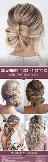 42 Chic And Easy Wedding Guest Hairstyles #weddingguesthairstyles Wedding guest …