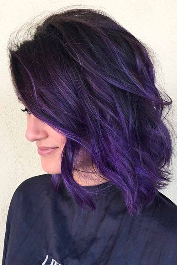 43 Amazing Dark Purple Hair, Balayage/Ombre/violet – Style Easily