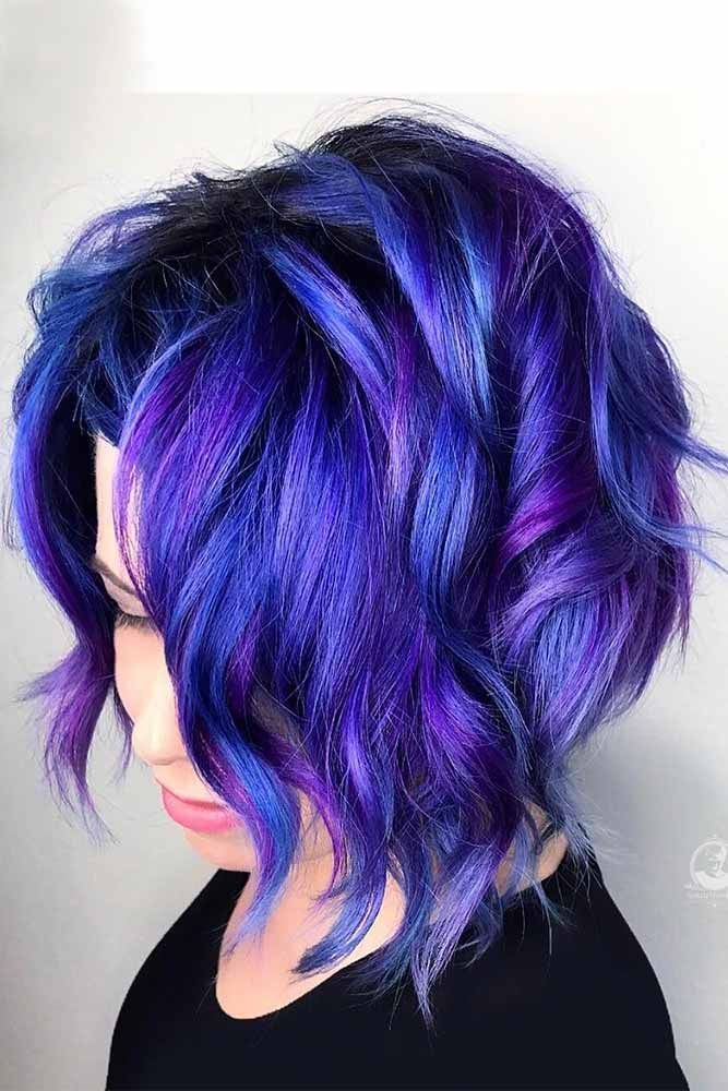 50 Cosmic Dark Purple Hair Hues For The New Image | LoveHairStyles