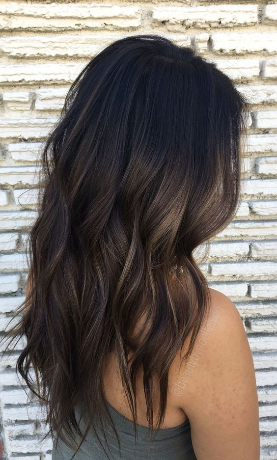 66 subtle balayage brunette hairstyles with autumn-winter colors #balayage #brun …