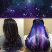Bold hair ideas you can hide at work #haircolor #hair #color #tips #color