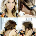 Braided Updo with a Messy Touch for Short Hair | LoveHairStyles.com