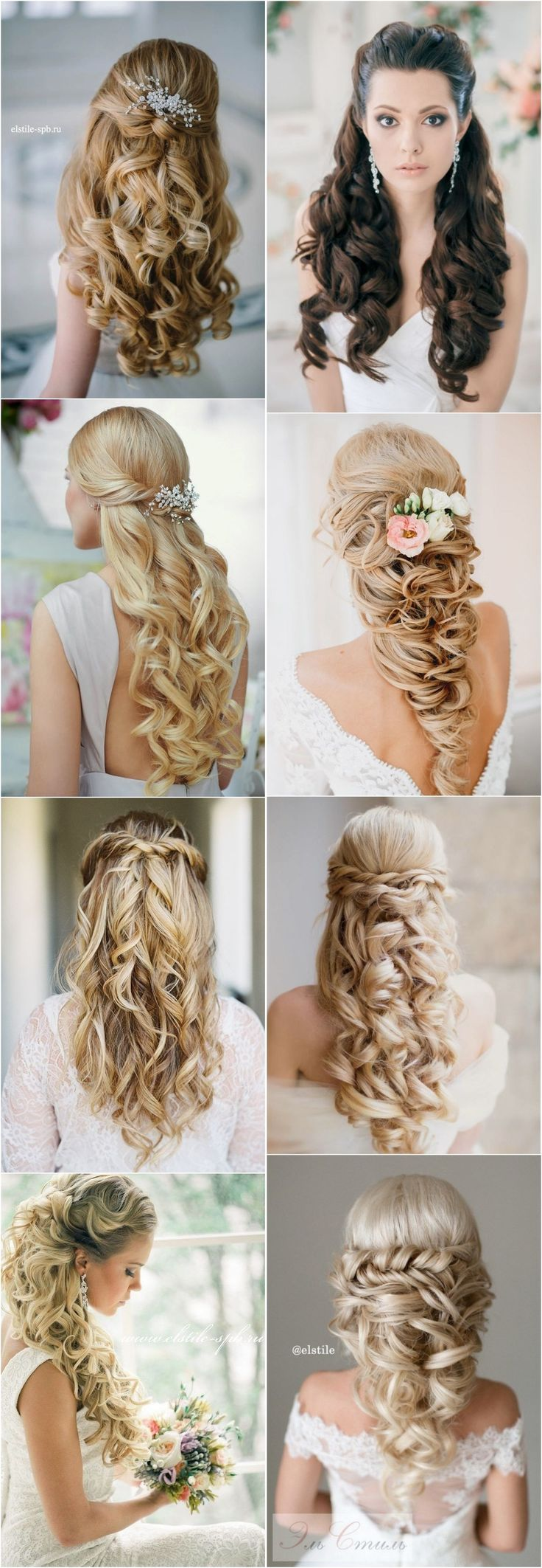 Bridal Hairstyles : Peinado-stunning-half-up-half-down-wedding-hairstyles-with-tutorial/40 Stunning … – Beauty Haircut | Home of Hairstyle Ideas & Inspiration, Hair Colours, & Haircuts Trends