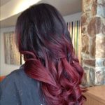 Clip in Double drawn European remy Human Hair Extensions 1 B (Natural black) into Medium Burgundy Brown Ombre. 140g