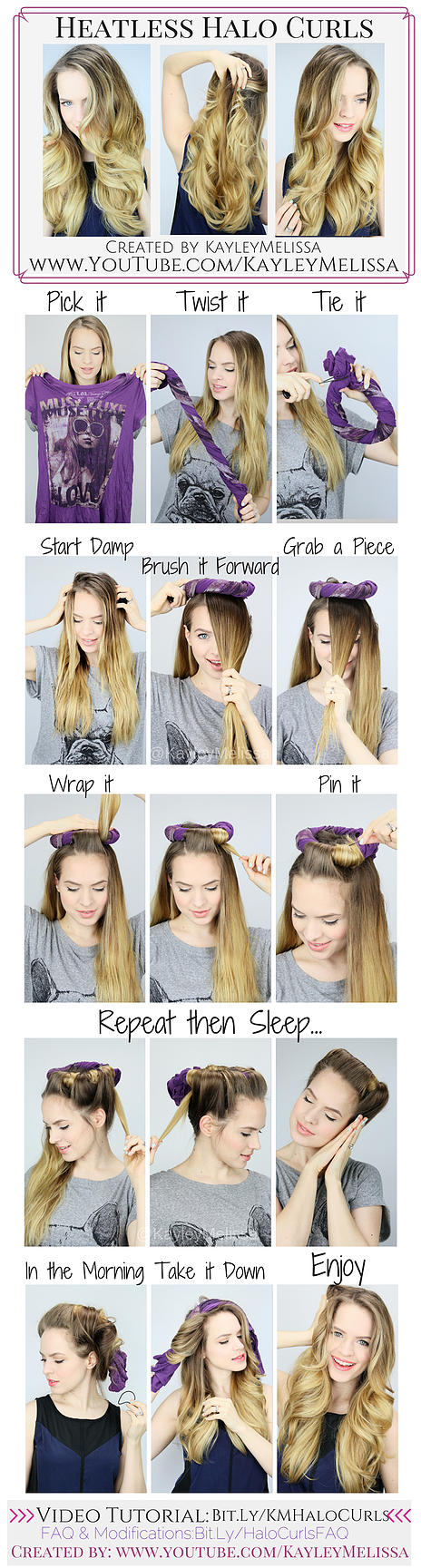 Easy Heatless Curls / Waves! These are so smooth and soft! + They look like they…