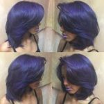 Feathered purple hair black woman  Feathered purple hair black woman#Hair #Hairs...