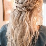Fresh wedding hairstyles halfway up half braids - New Site