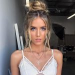 Fringe pieces on the face for a sweet, messy bun - New Site