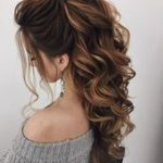 Hair Down Wedding Hairstyle, Wedding Hairstyles, Chignon, Back Hairstyle ...   -...