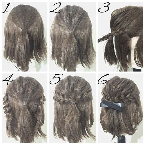Half-Up Hairstyles for Short Hair #2 – ILOVE