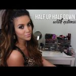 Half Up Half Down Hair with Extensions