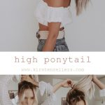 High ponytail tutorial // 6 easy scruchy styles by Kirsten Zellers