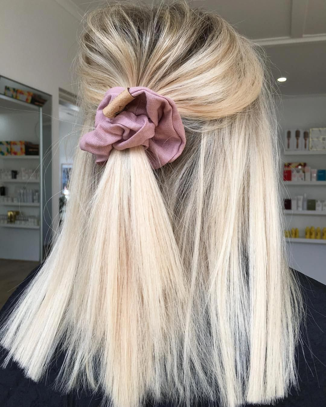 """Hottes Hair on Instagram: """"Blonde hair and scrunchies what more could you want…"""