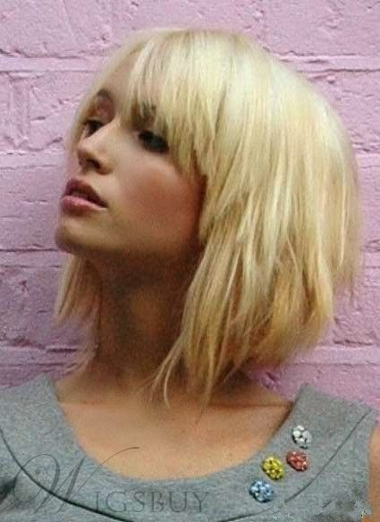 Layered Blonde Short Capless Wig 100% Human Hair 10 Inches