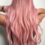 Pastel rose gold lace front wigs for white women full lace wig cosplay wig pink ombre dark roots like human hair in (61 cm) long, HEAT SAFE
