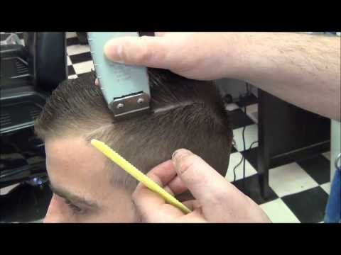 Pompadour Retro 30's 40's Style With Hard Part – YouTube