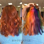 Rainbow hair peekaboo hair color clear rainbow