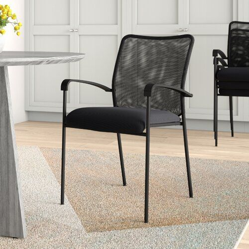 Symple Stuff Mesh Stacking Chair with Cushion | Wayfair.co.uk