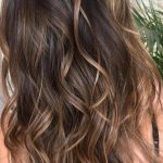 Thin Caramel Highlights #brunettebalayagehair
